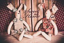 My Tildas / Rabbits and mice, handmade Tilda figures