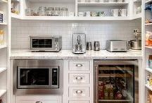 Kitchen Pantry Organization / A custom pantry will keep your #kitchen organized and clutter free!