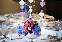 Dekorace svatebního stolu a místa hostiny