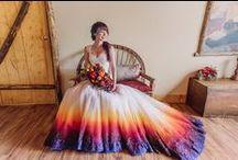 Barevný sen - svatební šaty