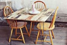 Pallet furniture / How to recycle old pallets into furniture for the home and garden.