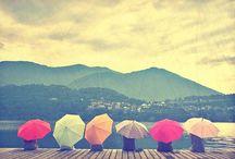 In the Rain or sunshine with umbrellas / Umbrellas sont non seulement pour la pluie
