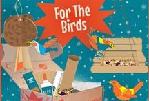 "STEM - ""For the Birds"" / ""For The Birds"" challenges STEMists to think of ways to design and build that meets the survival needs of local birds using upcycled materials  / by Groovy Lab in a Box"