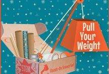 "STEM - ""Pull Your Weight"" Pulleys, Cranes, Newton's 3rd Law / Pulleys are all around us - from the flagpole at our elementary school to the sailboats in the lake. Explore how pulleys work! / by Groovy Lab in a Box"