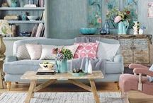 Living room / Interior decoration ideas, styles and colour schemes for living rooms / by floral and feather