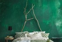 2017 Trends + Pantone Greenery / Inspiration for using the colour green in different ways in home styling.