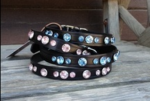 Spot & Co. Products / Handmade products - Crystal Conchos, Leather Bracelets, Pet Collars, etc.