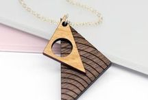 GEOMETRIC // / A Collection Of Geometric Shaped & Laser Etched Wooden Jewellery & Accessories, some available from Maria Allen Boutique.