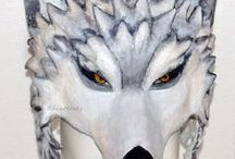 Paper mache animal / Paper mache masks