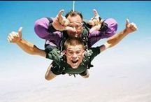 Sky diving / For the adventure of being alive www.warriors.co.za