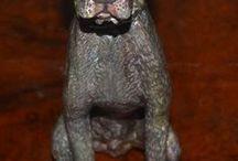 paper mache animal  figure / Paper Mache Dog