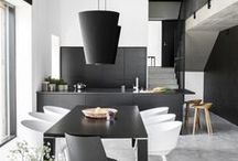 Musta Keittiö,  Black kitchen / Scandinavian, modern, black kitchen.