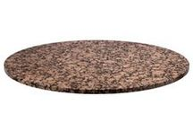Table Tops / These high-quality table tops are sure to impress your guests! From granite to stainless steel, we offer table tops made from a variety of materials with a wide range of colors and finishes.