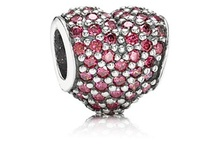 Sterling Silver Charms with Gems - PANDORA