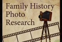 Family History Photo Research / Looking for clues to help you trace a photograph. Take a look around this board for lists of photographers and photographic clues.