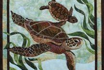 Art quilt - sea
