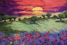 Art quilt - landscape