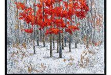 Art quilt - trees