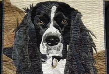 Art quilt - dogs
