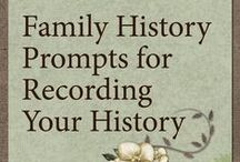 Family History Prompts and Journals / As a family historian I look to find out things about my ancestors, but what about your descendants, what are you leaving for them?