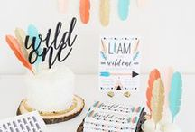 """Wild One Tribal 1st Birthday / Boho and tribal themed 1st birthday party ideas. Make it a """"Wild One"""" with arrows, feathers, teepees and modern triangles. Read about it on our blog!"""