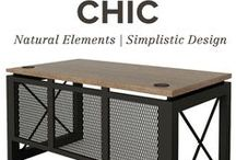 Industrial Chic Office Design / Industrial chic and rustic office furniture for the business that likes to stay on trend.