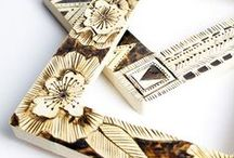 modern natural crafts / simple modern crafts - natural materials - patchwork - embroidery