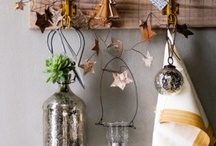 natural christmas decorating / christmas decorations and ideas. farmhouse, natural, rustic, simple, modern.