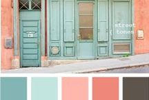Inspiration: Colour Shemes / Great colour shemes for any creative project. Especially useful when choosing paint for walls, cards, diy stuff   Tolle Farbpaletten für kreative Projekte. Besonders hilfreich bei der Auswahl von Wandfarbe und DIY Ideen