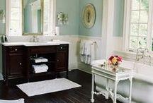 Interior: Bathroom Styles / Great ideas for your bathroom. Always pretty and elegant. Like the space ideas    Tolle Ideen fürs Badezimmer. Hübsch und elegant. Ich mag die kreativen Platzideen