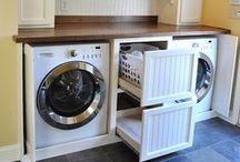 Interior: Laundry Room / Smart and pretty ways on how to style a Laundry room efficiently    Schlaue und schöne Ideen wie eine Waschküche stilvoll und platzsparend eingerichtet werden kann