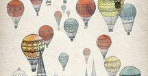 hot air balloon crafts / inspiration for elementary art projects and hot-air balloon unit study