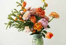 floral inspiration / floral arrangements and flowers in natural environments for design inspiration