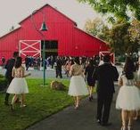 Real Ranch Receptions / Brides love our BIG red barn! The bold color on the outside makes a statement in photos while the interior is subdued and neutral. It is the PERFECT blank canvas for your wedding day dreams.