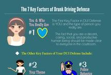 Drunk Driving Facts / A collection of sobering information related to drunk driving, driving under the influence, or operating while intoxicated. #OWI