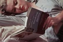 """MM- The Bookworm (a true Gemini) / Marilyn's personal library contained over 400 books with subjects such as:  art, philosophy, poetry, psychology, plus hundreds of novels.  The last know book Marilyn read before she died was """"To Kill a Mockingbird"""" by Harper Lee"""