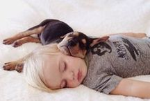 Dogs Love Children / Sweet pics of sweet human and canine #puppies.