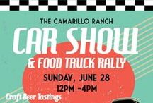 The Camarillo Ranch Car Show / This year, the Camarillo Ranch Car Show & Food Truck Rally features vintage Corvettes in the Red Barn. Sunday, June 28. Tickets available for purchase in office or at camarilloranch.org / by Camarillo Ranch