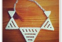 Hama bead jewelry / Hama beads uses to make hip jewelry