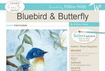 Learn To Paint / Learn to paint with Willow Wolfe.  Easy to follow painting projects for all levels.