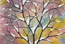 ZIMA / Nápady na tvorbu ve výtvarné výchově na téma zima