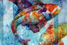 MALBA - ukázky obrazů / Ukázky malby temperou, vodovými barvami či jinými technikami.