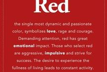 RED  ~~  There's Just Something About It!  / I love RED!!