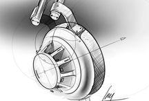 Diseño Industrial / Industrial Design / Ilustraciones antes de realizar una pieza o producto.