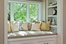 Window Seats & Nooks / I love window seats!  I truly want one!  Actually I'd like two! One in my craft room and one in my {dream} closet!  So here are some inspiring window seats, nooks and closets I've found.