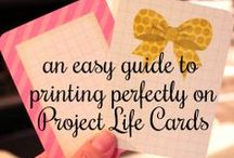 Scrapbooking ~ Project Life Cards / I can't believe how many AWESOME freebies there are out there for Project Life! I have NO IDEA how to re-size and/or edit images so I am only pinning the ones I have personally printed. If they're on here - they're FREE and easy/ready to print & use!