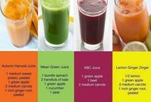 Juicing for my Health / I've been hearing a lot about the health benefits of juicing lately ~~ found some recipes I like -- and a lot more that I still want to try!!  / by Brenda Keeney-Jessie