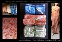 "Estamparia Tradicional - Shibori - Cores Vegetais #handmade @lekaoliveiraleka #naturaldye / We are ""slow-fashion"", our products carry a story and to produce pieces with natural fibers and dyes guarantee biodegradable products without toxicity and our skin or our planet. Clean production chain through raw materials from natural and renewable sources. www.inbluebrazil.com www.instagram.com... br.pinterest.com/... Watsapp: +55.11.981074046"