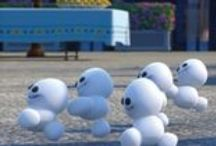 DIY Snowgie Craft Ideas from Disney Frozen Fever / Ideas for making your own Snowgies, the cute mischievous snowballs or snow babies * Olaf's friends * from Disney's Frozen Fever. Create, bake or craft one or more of these little irresistible frozen critters also known as snow minions or irreverently as snow snot. (Snowgies are made whenever Elsa sneezes out snow spray.)