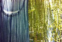 """ARASHI - Shibori Natural Dye / """"Arashi - Tempestade""""  Portifolio Studio InBlueBrazil & Atelier Etno Botânica Slow Fashion   Natural Dye  Instagram: @studio_inbluebrazil  www.etno-botanica.com www.inbluebrazil.com    """"Nosso trabalho é a apresentação das nossas capacidades e a cor é a música dos olhos. Johann Goethe"""""""
